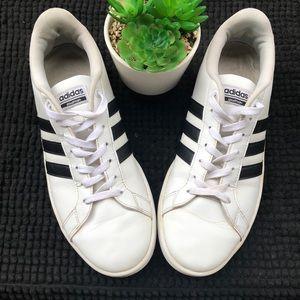 Adidas cloud foam white black 10